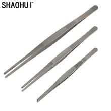 SHAOHUI Best Quality 20cm 25cm 30cm Stainless Steel Medical Dental Precision Long Straight Forceps Tweezers