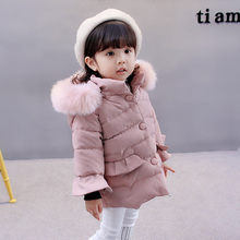 MUQGEW Fashion Children Jacket Hooded Solid Winter Jacket For Girls Keep Warm Long Sleeve Autumn Coat For Girls Casaco Infantil(China)