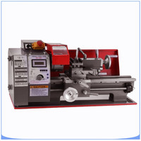 7x12 Inch 600W Metal Lathe 25mm Tailstock Sleeve Mini Bench Lathe 2 Variable spindle Speed Micro Lathe with All metal Gears