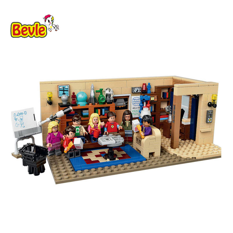 2017 New Arrival Lepin 16024 534Pcs Movie Series The Big Bang Theory Building Blocks Bricks Toys Gift 21302 model 16024 534pcs the big bang set building blocks figure bricks toys for children compatible legoe ideas series 21302