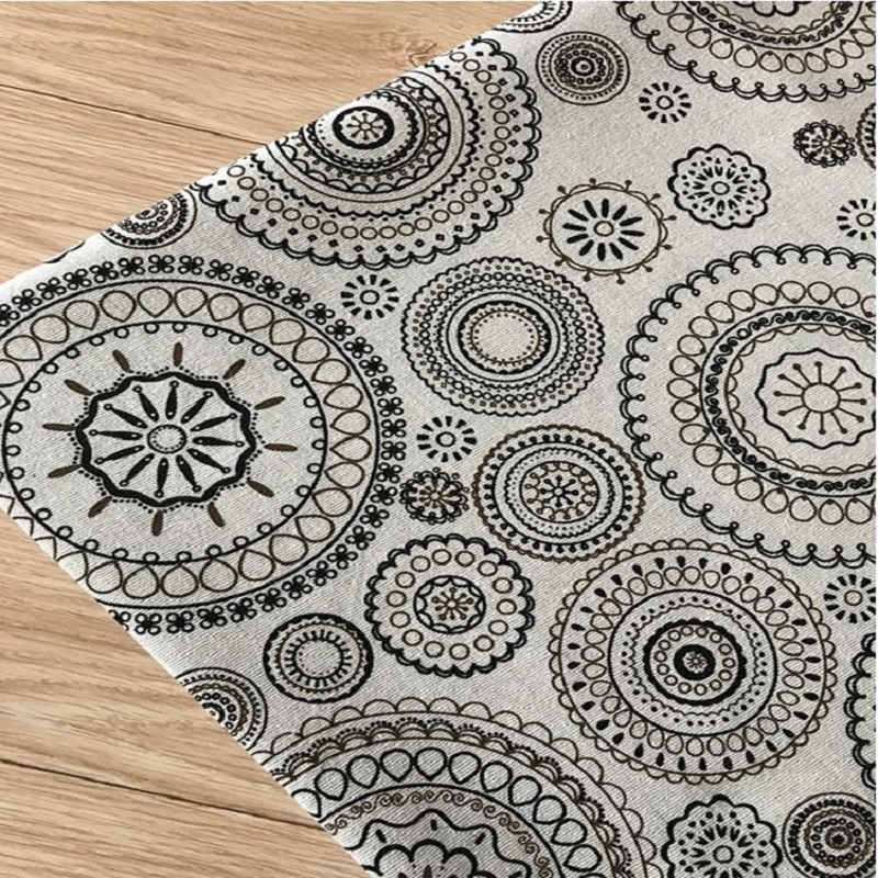DIY Sewing Quilting Cotton Linen Fabric For Home Decoration Wall Cover Cotton Linen Canvas Flax Material Fabric Width By 150CM(China)