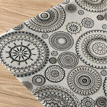 DIY Sewing Quilting Cotton Linen Fabric For Home Decoration Wall Cover Canvas Flax Material Width By 150CM