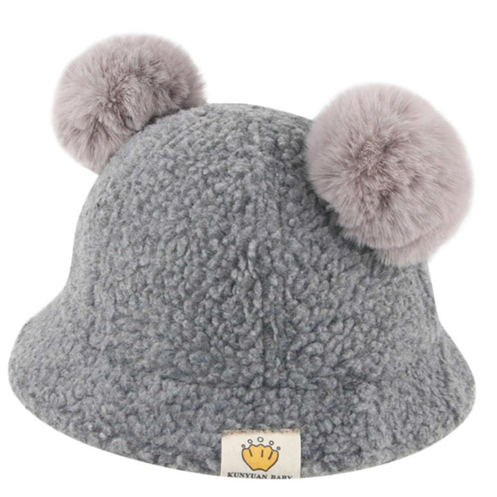 1ea99ff5e4a Detail Feedback Questions about Winter Knitted Baby Hats 2018 Girls Boys  Sweet Solid Hat With Two Fur Pompoms Balls Kids Caps For Baby Girls Warm  Soft Hat ...