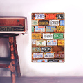 European Retro License plate wall sign board metal Wall stickers iron crafts picture Furnishing articles painting draw bar house