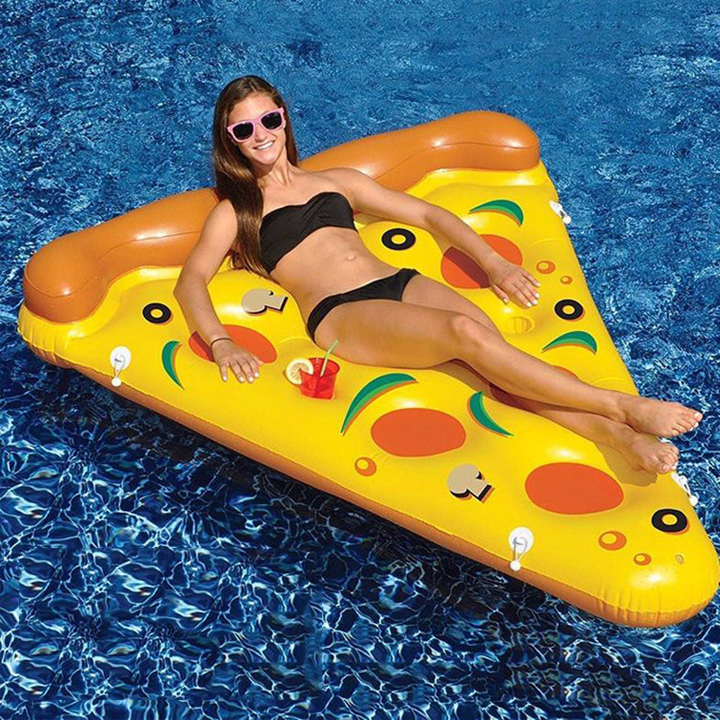 Explosion 180 cm Pizza Slice Gonflable Piscine Flotteur Haute Qualité Tube Gonflable Lit Flottant Piscine Piscine Air Matelas