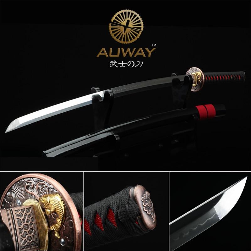 Sharp Katana samurai sword. Casing soil tempering. Japan show real knife. T10Sharp Katana samurai sword. Casing soil tempering. Japan show real knife. T10