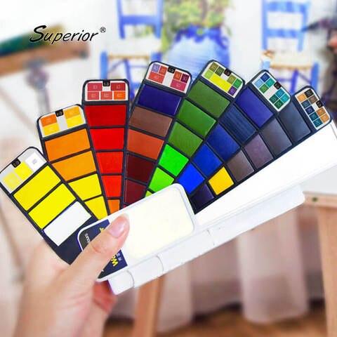 superior solida aquarela pigmento 18 25 33 42 pintura da cor de agua set para