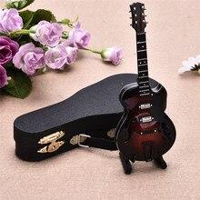 High-end Mini Instrument Exquisite Guitar Sousaphone Desktop Decor Top Grade Gift Mini Musical Instrument Models Of Delicate Box