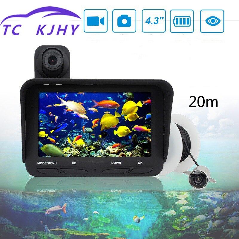Haute définition Vision nocturne Marine Gps 4.3 pouces 20 mètres double lentille détecteur de poisson sous-marin caméra vidéo dispositif de pêche