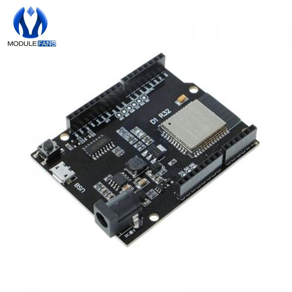 ESP32 For Wemos D1 Mini For Arduino UNO R3 D1 R32 WIFI Wireless Bluetooth Development Board CH340 4M Memory One