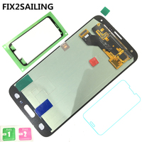 Super AMOLED LCD Display 100 Tested Working Touch Screen Assembly Home Button For Samsung Galaxy S5
