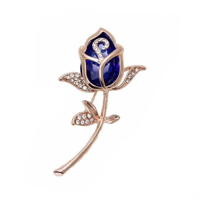 d00280695 קנו סטים של תכשיטים   Crystal Rose Flower Brooch Pin Rhinestone ...