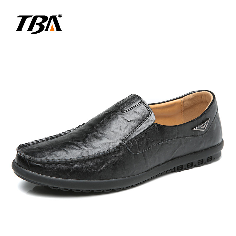 TBA 2017 Hot Sale Men's Slip On Casual Shoes Black Brown Mens Leather Loafers Flats Shoes Driving Shoes Plus Big Size 45 46 47 black suede loafers for male plus size 38 47 casual mens footwear driving flats loafers suede leather flats slip on shoes mens