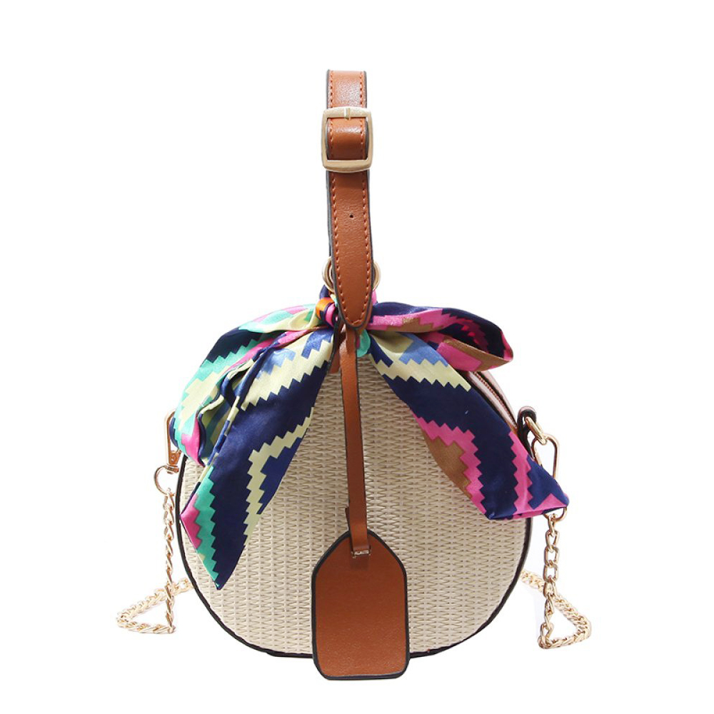 HEBA Hot Sale Women's straw bag Crossbody bag Woven bag Summer leisure bag Small round single(China)