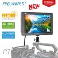 FEELWORLD P7 7 дюймов ультра яркий 2200nit на камера поле DSLR монитор алюминиевый корпус 4 к HDMI видео фокус помощь с выходом постоянного тока