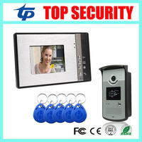 Wired 125KHZ RFID Card Smart Card Access Control Reader Door Control System 7 Inch Video Door