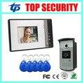 Wired 125KHZ RFID card smart card access control reader door control system 7 inch video door phone villa vide intercom bell