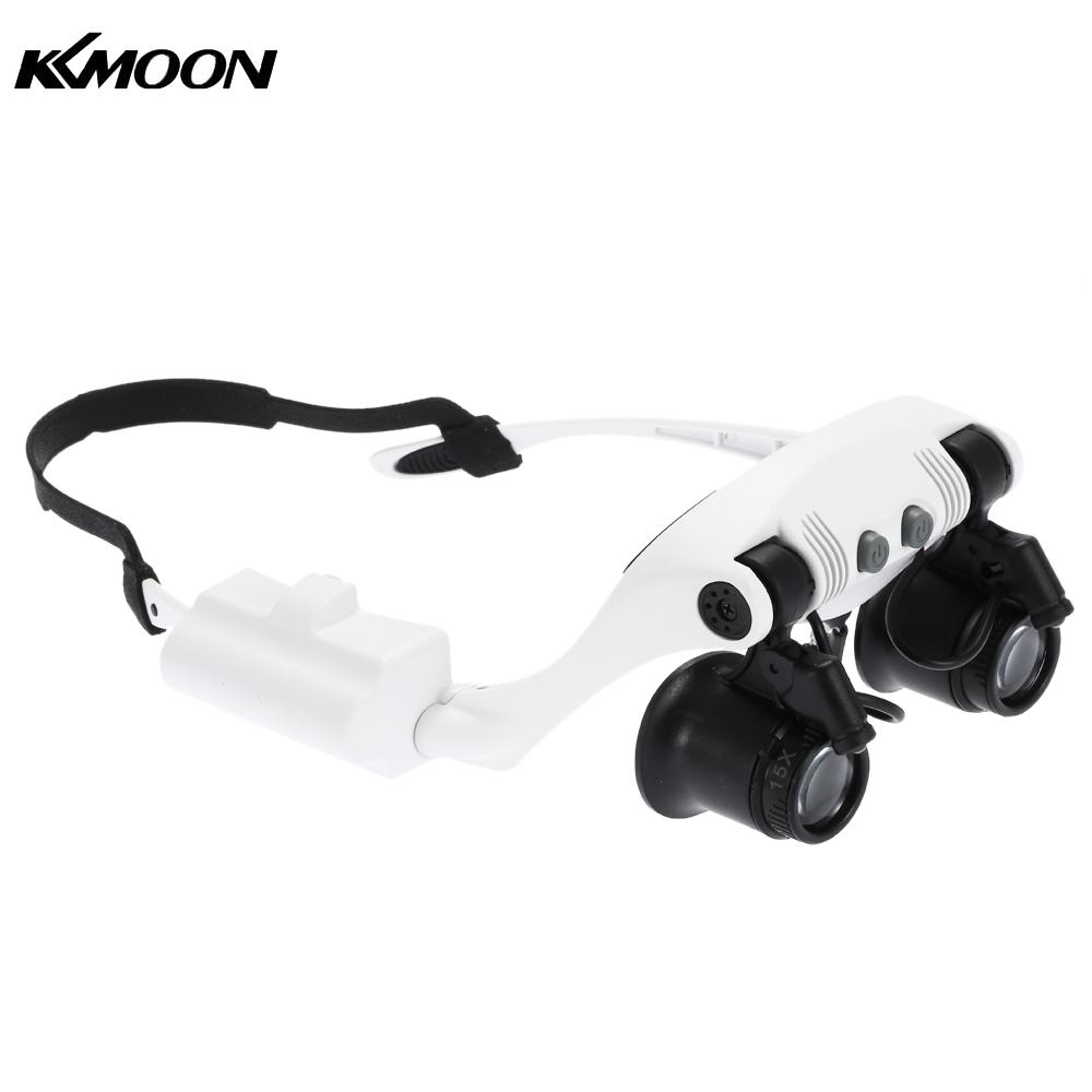 10x 15x 20x 25x Magnifying Glass with 2 LED Light Head ...