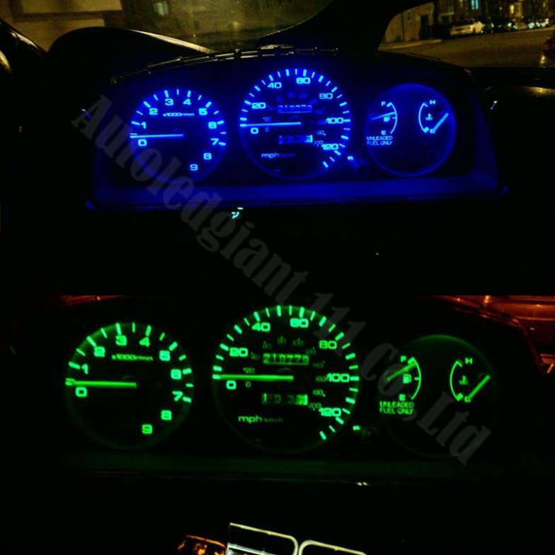 T5 T10 White Speedometer Gauge Cluster Dash LED Light Kit For 94 95 Ford Mustang
