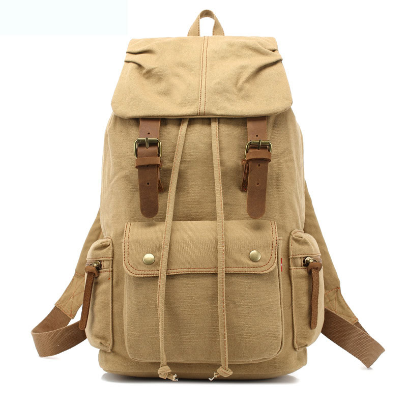 Multifunctional And Large Capacity Unisex Backpack Occident Style Vintage Men 39 s Outdoors Travelling Bag Women Laptop Schoolbag in Backpacks from Luggage amp Bags