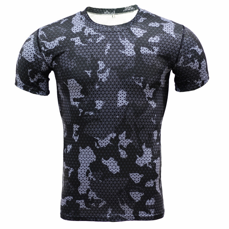 iShine Print Men T-Shirt T Shirts Fitness Compression Shirt