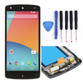D820 ЖК-Дисплей С Сенсорным Экраном Дигитайзер Ассамблеи + рамка + инструменты для LG Google Nexus 5 D820 D821, бесплатная доставка + трек