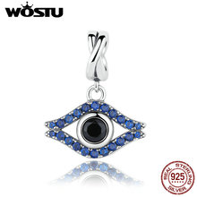 2017 nueva moda plata de ley 925 encantos de mal de ojo cuelga encajan pandora original pulsera colgante auténtico regalo de la joyería diy