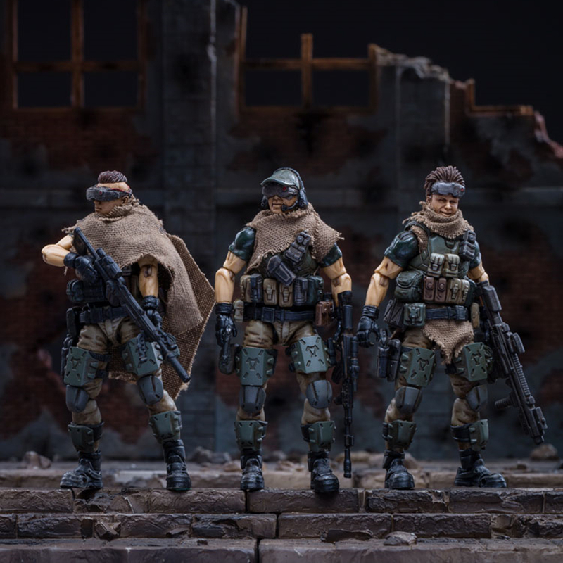 1/18 JOYTOY Action Figure Soldiers(3pcs/lot) RUSSIAN FEDERATION CAUCASUS SQUAD Collection In-stock Free Shipping