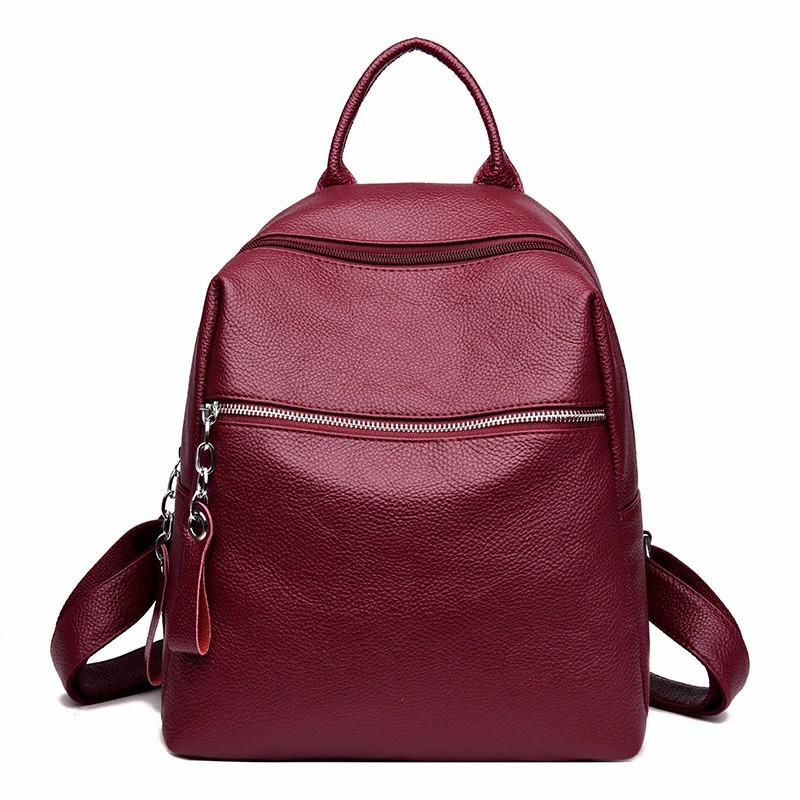 2019 Women Leather Backpacks For Girls Large Capacity Travel Bagpack Vintage Female Back Pack School Bags For Girls Mochilas