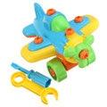 Nueva diy desmontaje avión pequeño bloques de construcción para niños juguetes educativos ensamblado modelo de herramienta de sujeción con destornillador