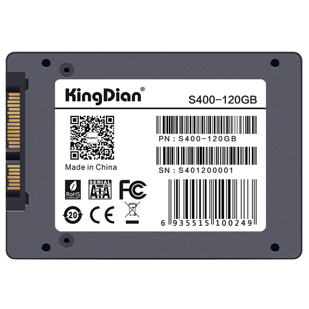 KingDian 2.5 7mm SATA III 6Gb/s Original Brand SSD Internal Solid State Drive for Desktop Laptop PCs - S400 120GB new and retail package for ssdsc2ba400g401 400gb 2 5inch sata iii 6gb s solid state drive ssd
