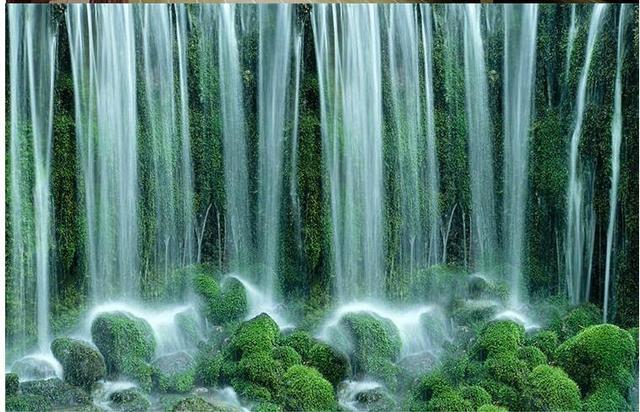 Grosse Wasser Machen Geld Feng Shui Mural Continental Wasserfall