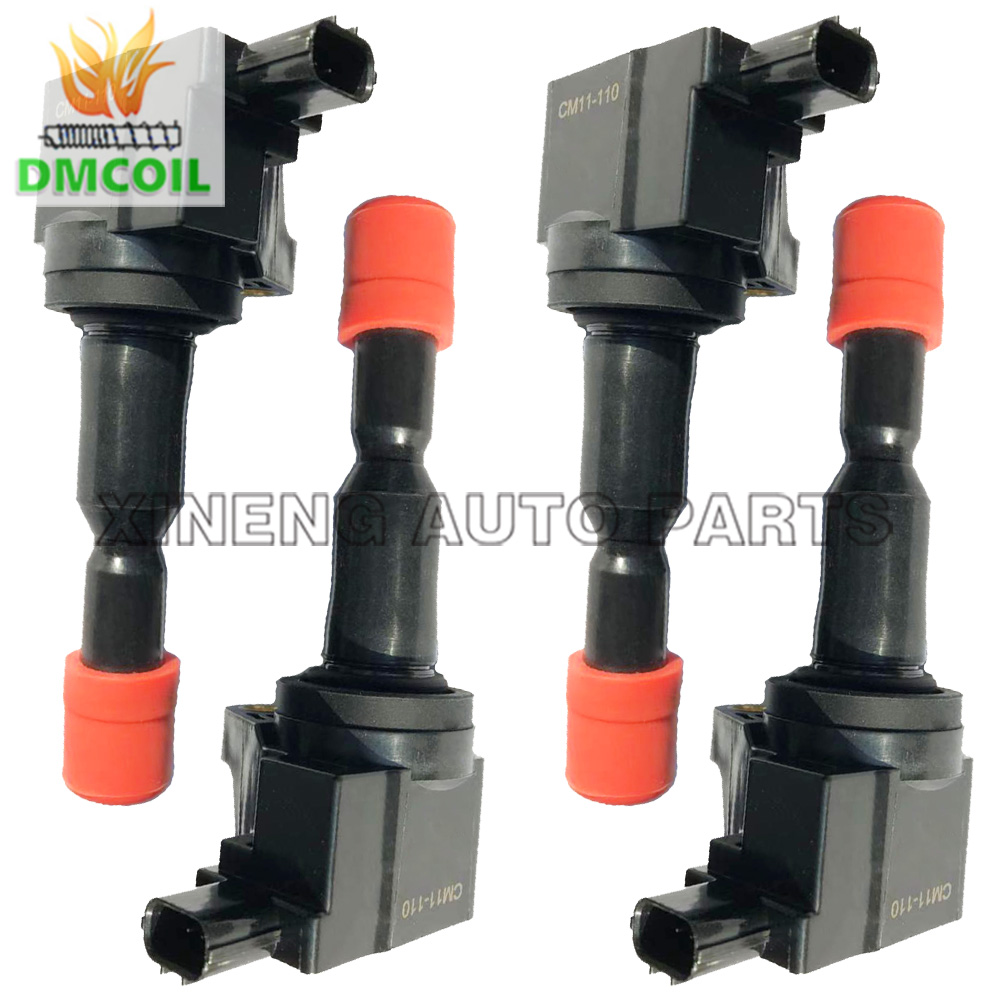 4 PCS HIGH QUALITY IGNITION COIL WITHOUT RESISTANCE FOR HONDA AIRWAVE FIT II JAZZ 1 3L