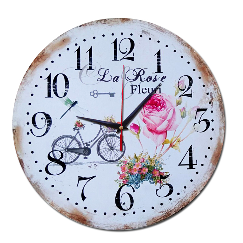 2017 new wall clock wooden 3d clocks reloj de pared - Horloge decorative ...