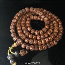 El Tibetano 108 rebordea BRO576 Engrasado de Edad 9-10-11mm Hombre Amuleto Budista Rudraksha Bodhi Semillas Oración Mala Collar Pulsera
