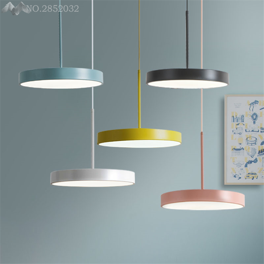 Nordic modern Macarons pendant lights color hanging lamp for living room restaurant children's lamps dimming home lighting decor