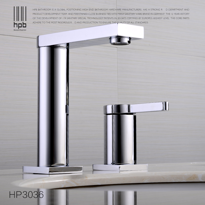 HPB Elegant Brass Basin Faucet Hot and Cold Water Single holder Single hole Sink Bathroom Tap Mixer grifos para lavabos HP3036 hpb pull out bathroom faucet brass sink basin mixer tap cold hot water chrome single hole handle fashion design quality hp3030