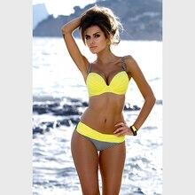 FLYMALL 2017 Sexy Brazilian Bikinis Women Swimwear Swimsuit Push Up Bikini Set Halter Top Beach Bathing Suits Swim Wear 05