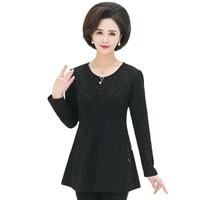 Women Peplum Blouse Flower Pattern Shirt Basic Top Round Collar Long Sleeve Blouses Woman Casual Top Black Red Green Tunic Plus
