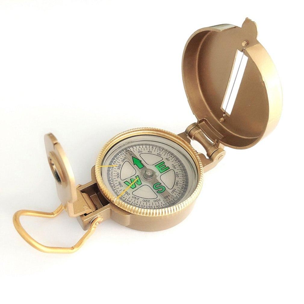 Outdoor Camping Tool Compass Metal Portable Lens Climbing Compass
