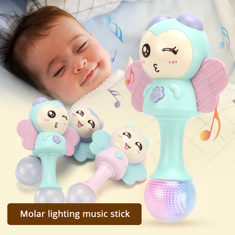 Baby Teether Music Stick Newborn Baby Toys 0-12 Months Rattles Baby Molar Sand Hammer Bite Rattles Mobile For Baby Cribs