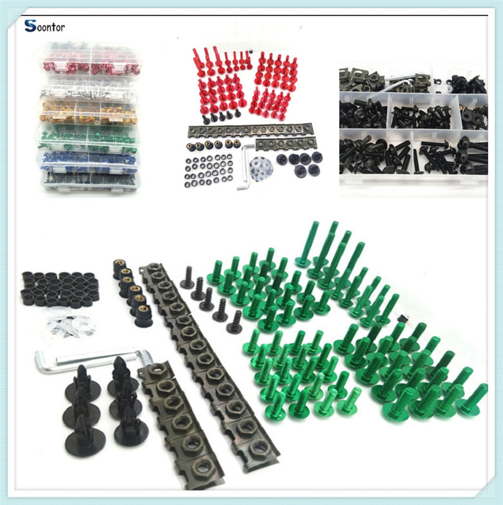 Motorcycle Accessories Fairing <font><b>Body</b></font> Bolts set <font><b>Kit</b></font> Fastener Clips Screw Nuts For <font><b>YAMAHA</b></font> R1 <font><b>R6</b></font> BMW HP2 SPORT K1200R 1200 EXPLORER image