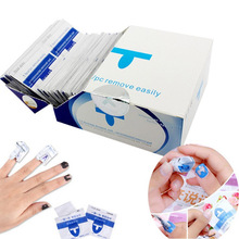 50 Pcs/Lot Gel Polish Remover Wraps UV Removable Environmental Easy Cleaner Nail Pad Art Tool Degreaser Kit