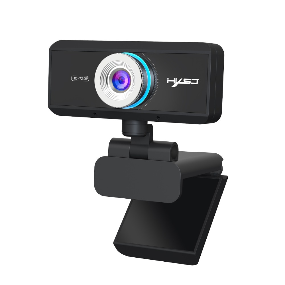 US $17 09 55% OFF|HXSJ S90 HD webcam 720P web cam 360 degree rotating PC  camera video call and recording with noise reduction microphone for PC-in