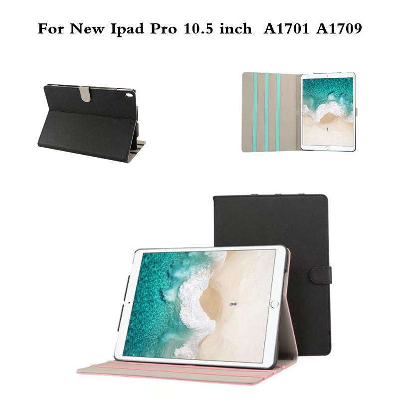 Luxury Smart Cover Case for New iPad Pro 10.5 2017 Case PU Leather Foldable Flip Tablet Cover for iPad Pro 10.5 inch A1701 A1709 ultra thin smart flip pu leather cover for lenovo tab 2 a10 30 70f x30f x30m 10 1 tablet case screen protector stylus pen