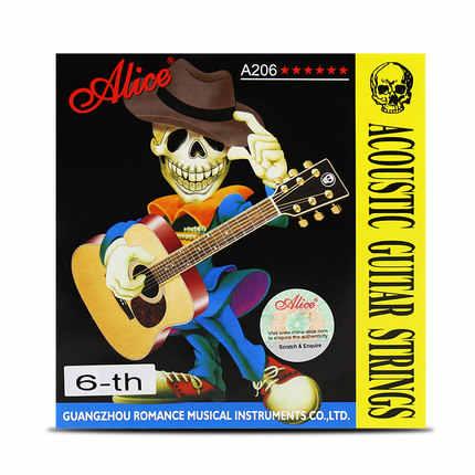 1 pc Alice guitare acoustique cordes 1st/2nd/3rd/4th/5th/6th haute qualité 1 pièce guitare pièces accessoires cordes