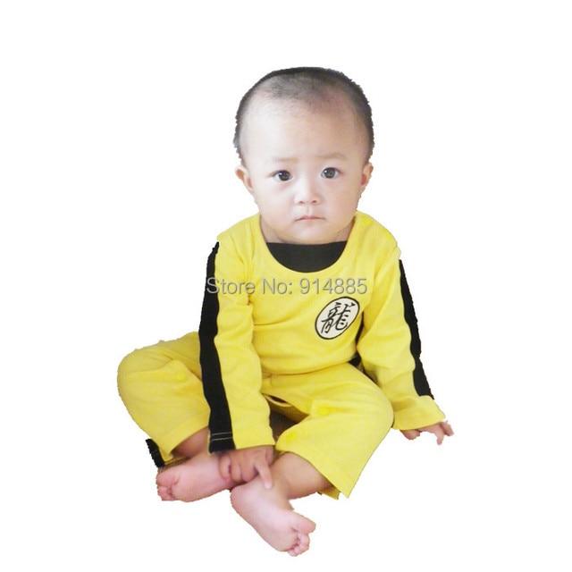 Summer Baby Romper Bruce Lee Kung Fu Baby Toddler Boy Girl Grow