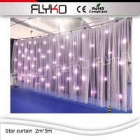Free Shipping High Quality 2M 5M DMX BW Led Star Curtain Sound Activated DJ Backdrops LED