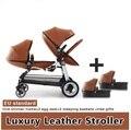 Бесплатная доставка Роскошная детская коляска прогулочная коляска