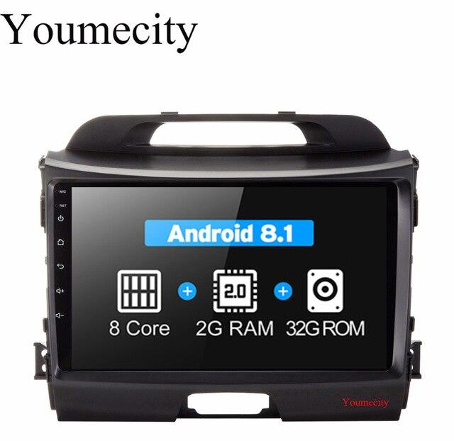 Youmecity Android 8.1 Octa Core Headunit lecteur DVD de Voiture pour KIA Sportage R 2014 2011 2012 2013 2015 Gps wifi radio Bluetooth